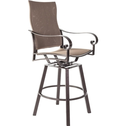OW Lee Pasadera Sling Swivel Counter Stool with Arms - 86154-SCS