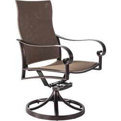 OW Lee Pasadera Sling Swivel Rocker Dining Chair - 86154-SR