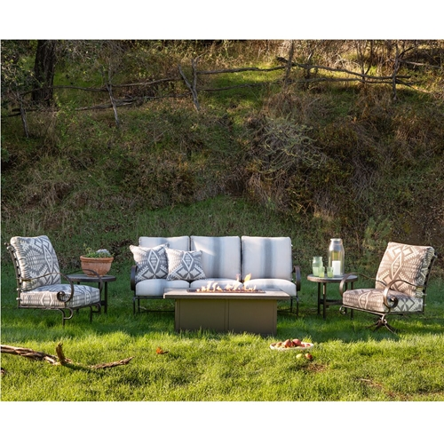 OW Lee Pendleton Classico-W Sofa with Lounge Chairs and Fire Table Set - OW-PENDLETON-SET5