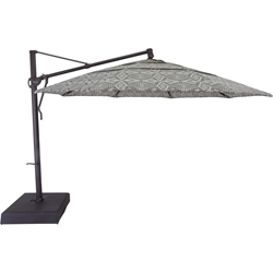 OW Lee Pendleton Classico-W 13 Cantilever Umbrella with Brown Base - PDU-13CB-375B-BASE