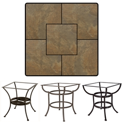 OW Lee 36 inch Square Porcelain Tile Top Dining Table - P3636SQ-XX-DT03