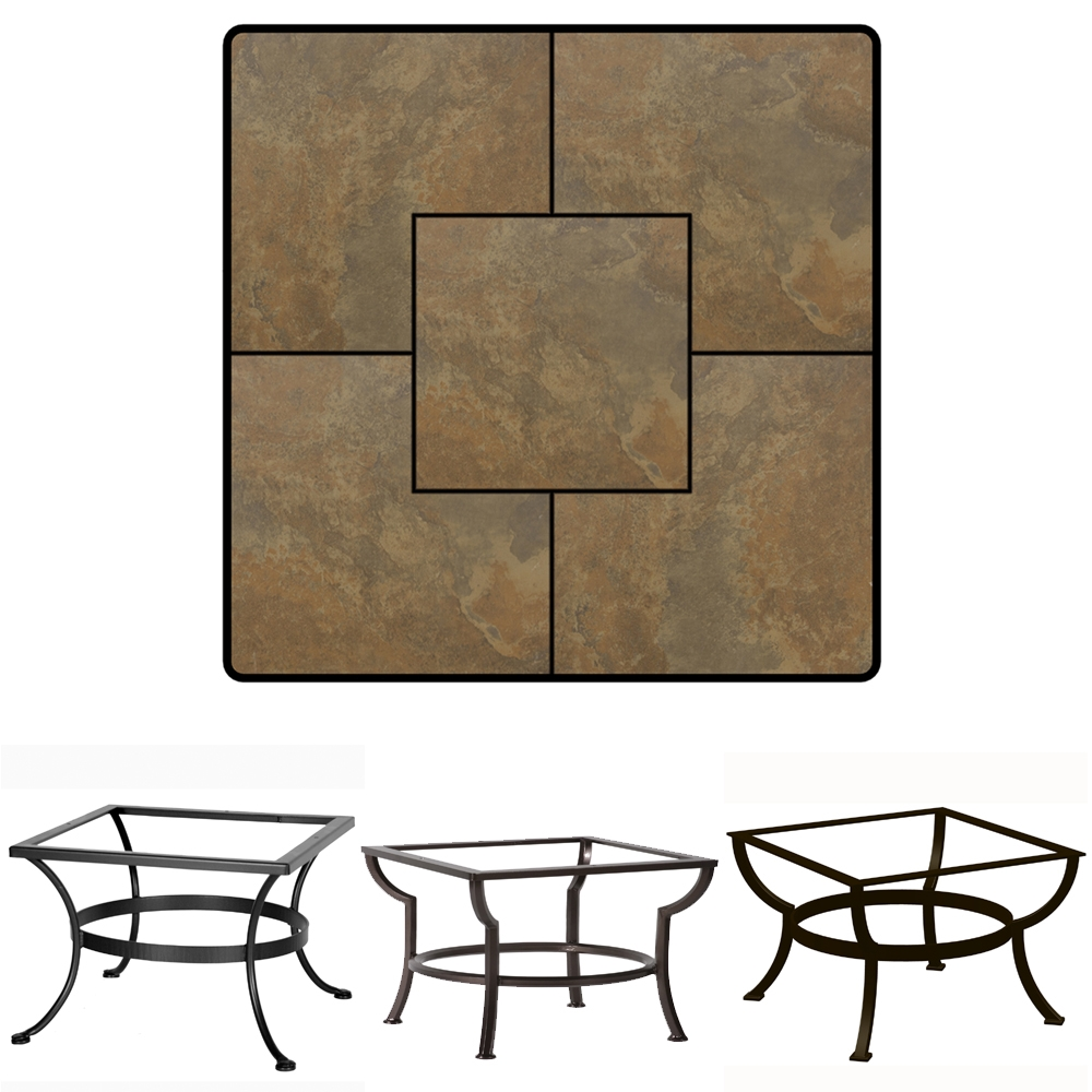 36 inch square porcelain tile top coffee table ow lee at for 36 inch square coffee table