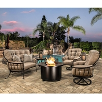 OW Lee Quick Ship Monterra Set with Crescent Love Seat and Swivel Rocker Chairs - OW-QUICKSHIP-SET2