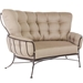 Crescent Love seat for intimate gatherings