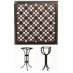 OW Lee 24 inch Square Richmond Cast Top Counter Table - A24SQC-CT01