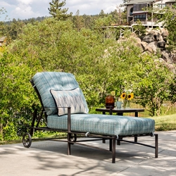 OW Lee Ridgewood Chaise Lounge with Side Table Set