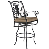 OW Lee San Cristobal Swivel Counter Stool with Arms - 653-SCS