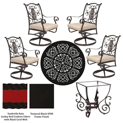 Warehouse Clearance San Cristobal Dining Set for 4