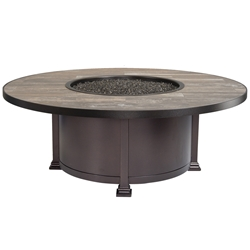 "OW Lee 54"" Round Santorini Occasional Height Fire Pit - 5110-54RDO"