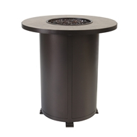 "OW Lee Santorini 36"" Round Counter Height Fire Pit Table - 5110-36RDK"