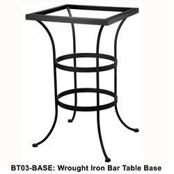 OW Lee Standard Wrought Iron Bar Height Table Base - BT03-BASE