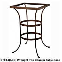 OW Lee Standard Wrought Iron Counter Height Table Base - CT03-BASE