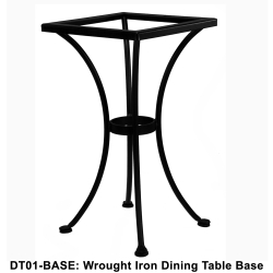 OW Lee Standard Wrought Iron Bistro Dining Table Base - DT01-BASE