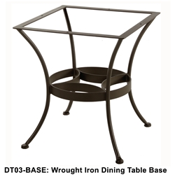 OW Lee Standard Wrought Iron Dining Table Base - DT03-BASE