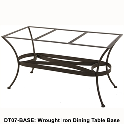 OW Lee Standard Wrought Iron Rectangular Dining Table Base - DT07-BASE