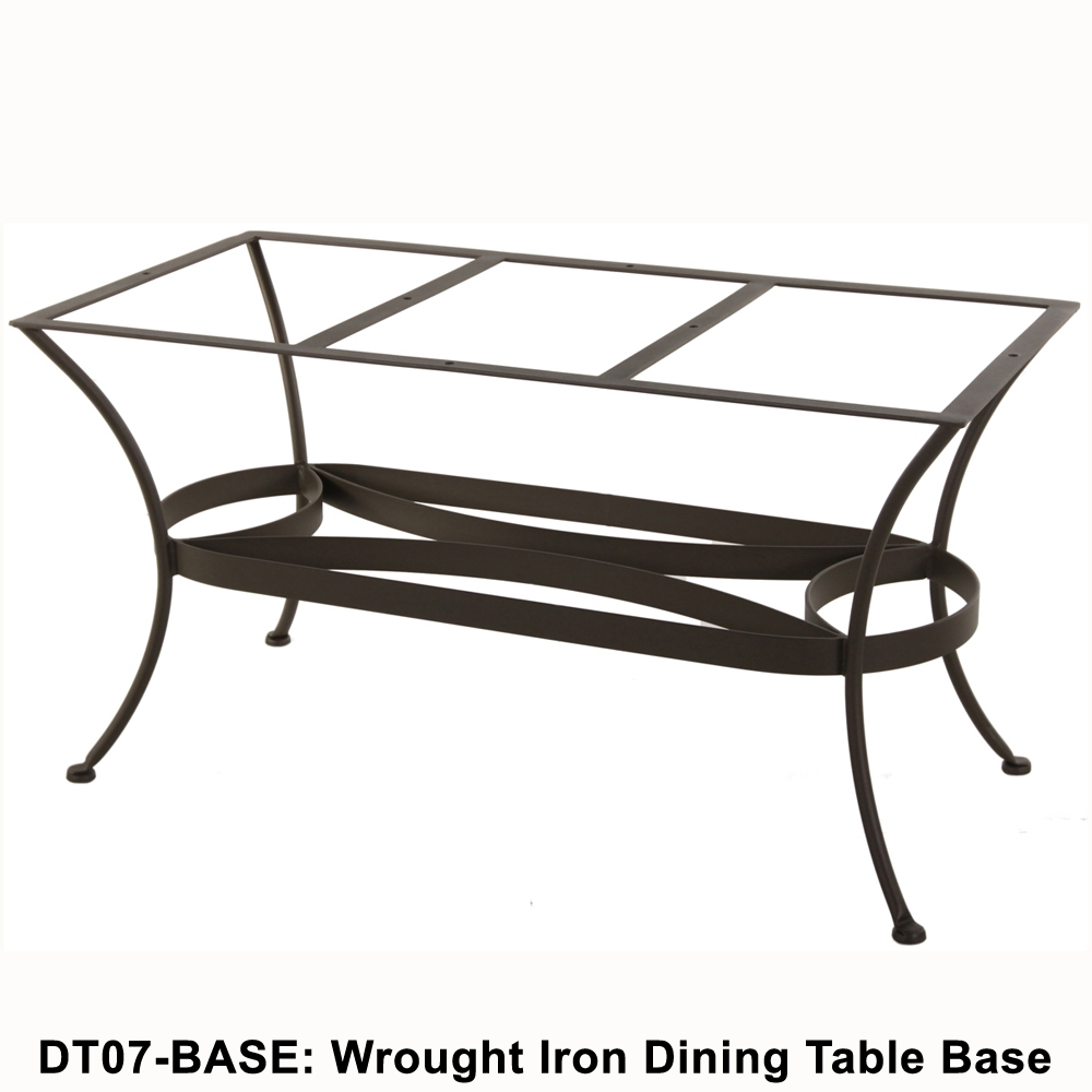 standard wrought iron rectangular dining table base ow lee at. Black Bedroom Furniture Sets. Home Design Ideas