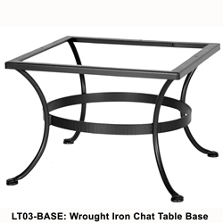 OW Lee Standard Wrought Iron Chat Table Base - LT03-BASE