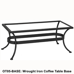 OW Lee Standard Wrought Iron Rectangular Coffee Table Base - OT05-BASE