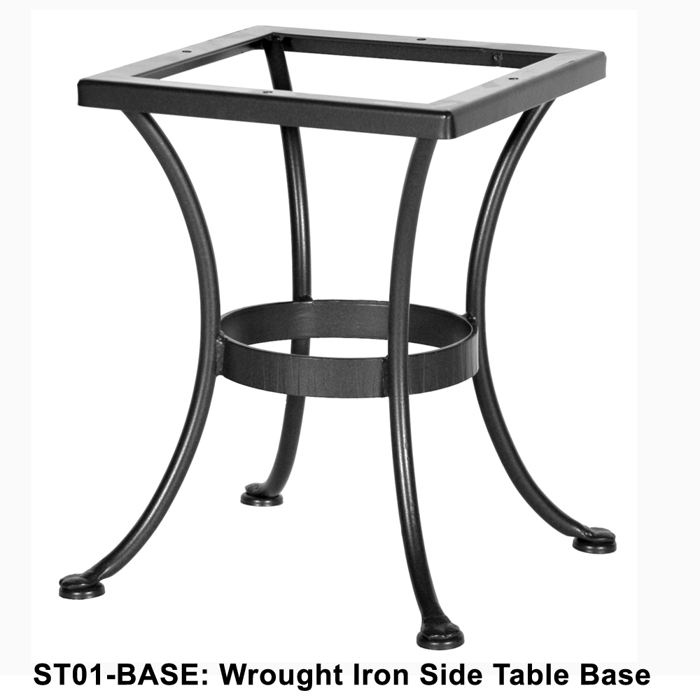 Merveilleux OW Lee Standard Wrought Iron Side Table Base   ST01 BASE