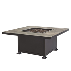 "OW Lee OW Lee Vulsini 42"" Square Occasional Height Aluminum Fire Pit - 5120-42SQO"