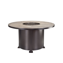 "OW Lee OW Lee Vulsini 54"" Round Dining Height Aluminum Fire Pit - 5120-54RDD"