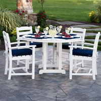 PolyWood La Casa Cafe 5 Piece Patio Dining Set - PW-LACASA-SET2