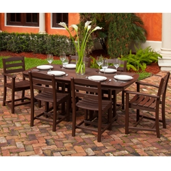 PolyWood La Casa Cafe 7 Piece Dining Set - PW-LACASA-SET3