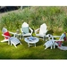 PolyWood Long Island 9 Piece Patio Chat Set - PW-LONGISLAND-SET3