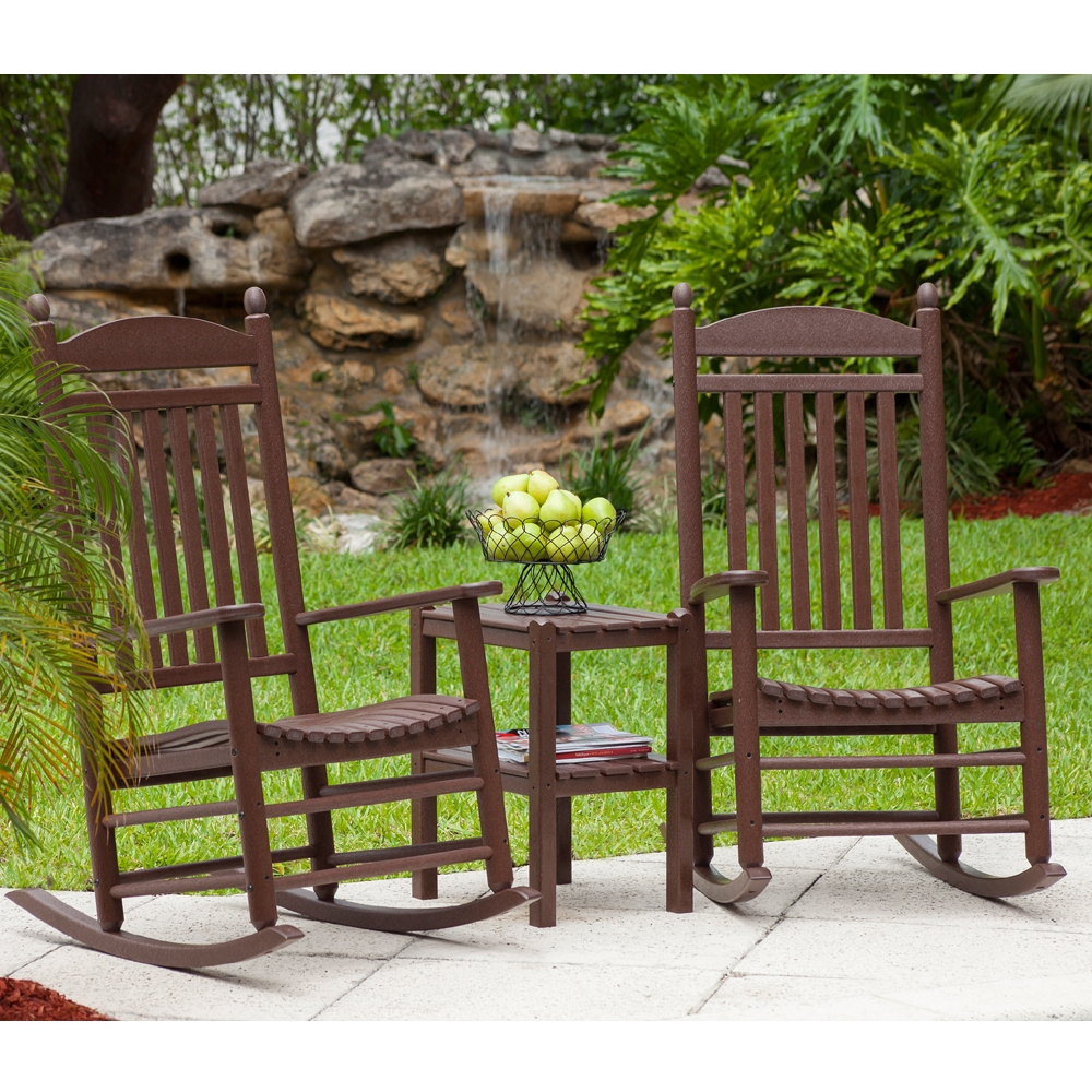 Magnificent Jefferson Rocking Chair Set From Polywood Ocoug Best Dining Table And Chair Ideas Images Ocougorg