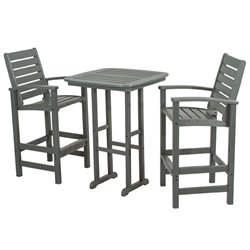 PolyWood Signature 3 Piece Bar Set - PW-SIGNATURE-SET3