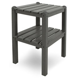 PolyWood Two Shelf Side Table - TWST
