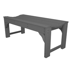 PolyWood Traditional Garden 48 inch Backless Bench - BAB148