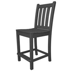 PolyWood Traditional Garden Counter Side Chair - TGD101