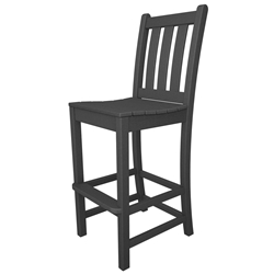 PolyWood Traditional Garden Bar Side Chair - TGD102
