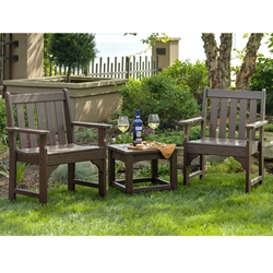 PolyWood Vineyard 3 Piece Garden Chair Set - PW-VINEYARD-SET1
