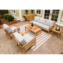 Royal Teak Coastal Teak Sofa and Lounge Chair Outdoor Furniture Set - RT-COASTAL-SET1