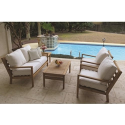Royal Teak Coastal Teak Outdoor Patio Set - RT-COASTAL-SET4
