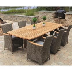 Royal Teak Helena Wicker Outdoor Dining Set for 6 - RT-HELENA-SET1