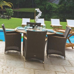 Royal Teak Helena Wicker Outdoor Dining Set for 4 - RT-HELENA-SET2