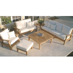 Royal Teak Miami Teak Sofa and Love Seat Outdoor Furniture Set - RT-MIAMI-SET1