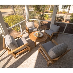 Royal Teak Miami Teak Lounge Chair Patio Set - RT-MIAMI-SET2