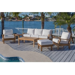 Royal Teak Miami Teak Sofa Outdoor Furniture Set with Lounge Chairs - RT-MIAMI-SET3