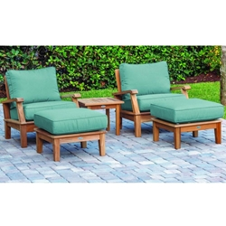 Royal Teak Miami Teak Deep Seating Furniture Set - RT-MIAMI-SET7