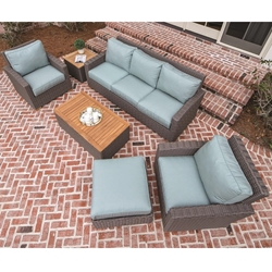 Royal Teak Sanibel Wicker Outdoor Sofa and Lounge Chair Furniture Set - RT-SANIBEL-SET3