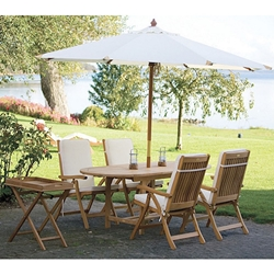 Royal Teak Estate Outdoor Dining Set for 4 with Cushions - RT-ESTATE-SET1