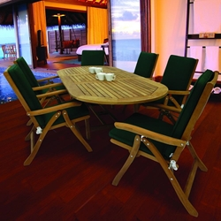 Royal Teak Estate Outdoor Dining Set for 6 - RT-ESTATE-SET3