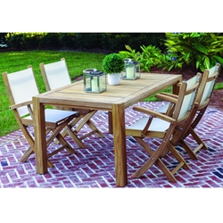 Royal Teak Sailmate Outdoor Dining Set for 4 - RT-SAILMATE-SET2