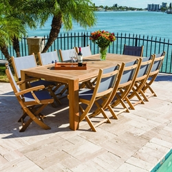 Royal Teak Sailmate Outdoor Dining Set for 10 - RT-SAILMATE-SET3