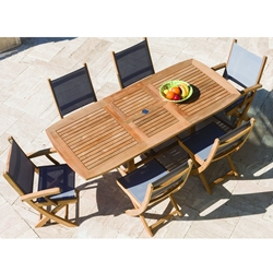 Royal Teak Sailmate Outdoor Dining Set for 6 with Expansion Table - RT-SAILMATE-SET5