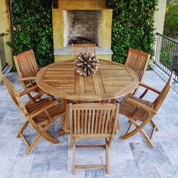 Royal Teak Sailor Round Outdoor Dining Set for 6  - RT-SAILOR-SET1